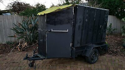 6x4 Box Trailer with Cage