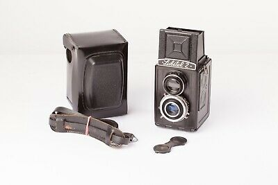 "Lubitel 2.  Vintage Russian 6x6 Film TLR with Case.   ""Lomography"" 6x6 Camera."