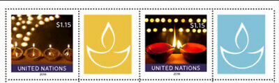 United Nations 2018 Happy Diwali Mnh Singles With Labels (2)
