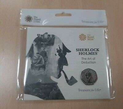 Sherlock Holmes 50p Coin - 2019 Royal Mint BU (Uncirculated) Sealed Folder