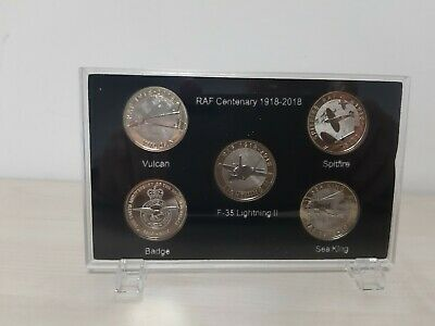 2018 RAF £2 Pound Coin Complete Set Supplied In a New Acrylic Display Frame