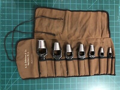 Vintage C. S. Osborne Leather Punch Tool Set Made In USA