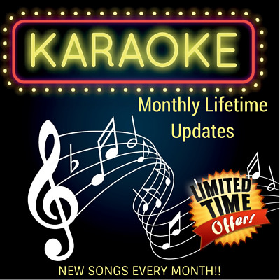 Brand New Karaoke Songs Every Month - Works with Hard Drive Karaoke Collections.
