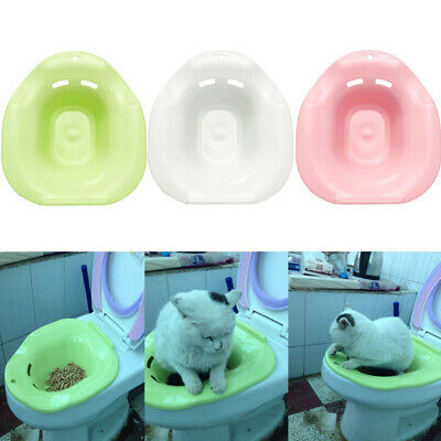 Cat Toilet Training Kit Cleaning System kitten Pet Potty Urinal Litter Open Tray