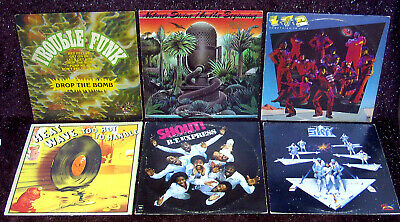 Lot6 Lps Trouble-Funk Glam Soul R&B Ltd Sky Bt Express Natures Divine Electro Dj