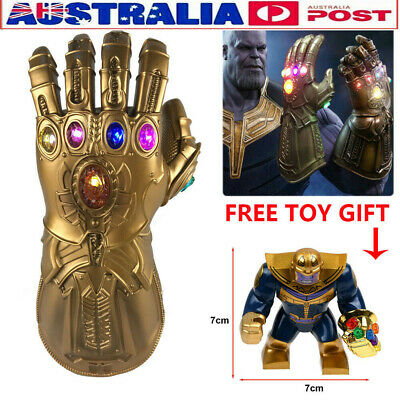 Thanos Gloves Avenge 3 4 Endgame Infinity War Gauntlet LED Cosplay √ Free Toys
