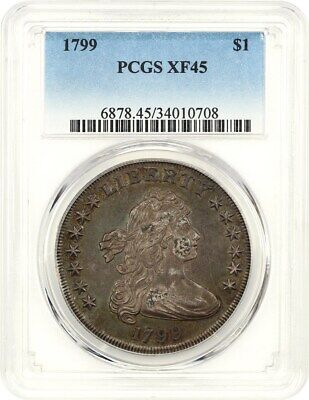 1799 $1 PCGS XF45 - Great Bust Dollar Type Coin - Bust Silver Dollar