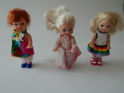 Shelly dolls Barbie sister Kelly doll and friends x3