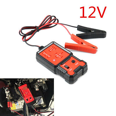 12V Electronic Automotive Relay Tester For Car Auto Battery Checker Black & Red