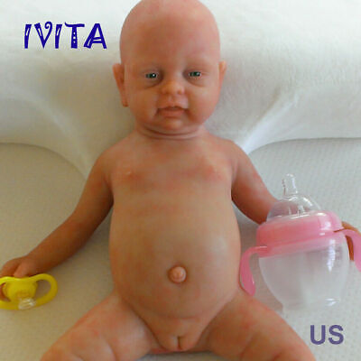 """Cute 18"""" Full Body Silicone Filled Lifelike Reborn Baby Doll Baby Toy Girl Gift"""