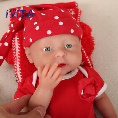 """Cute 16"""" Full Body Silicone Filled Lifelike Reborn Baby Dol Baby Toy Girl Gift"""