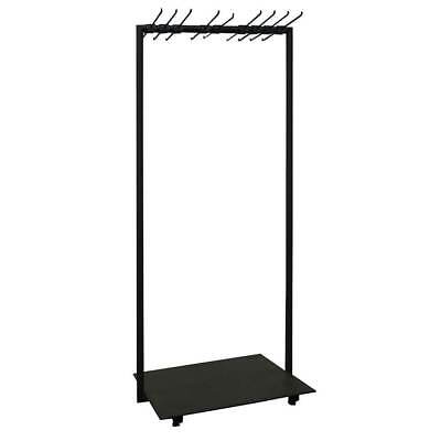 Shop Fit Out Metal Clothing & Jacket Hanger Clothes Rail Stand Single Black