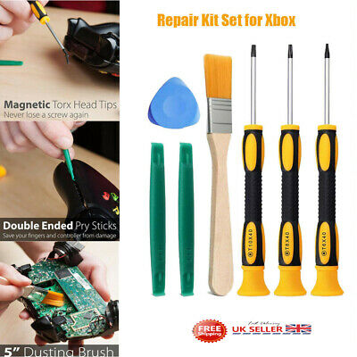 7pcs Screwdriver Tool Repair Kit Set for Xbox 360/Xbox One Controller &PS3 /PS4
