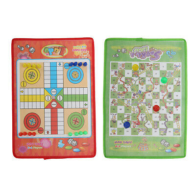 35CM Snakes & Ladders OR Ludo Traditional Family Board Game Kids Adults Toy Gift