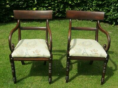 Pair Of William Iv Elbow Chairs