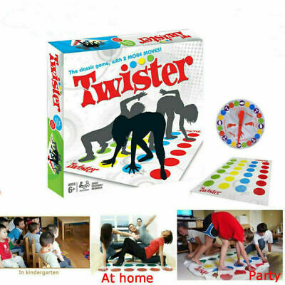 With 2 More Moves Funny Twister 2+ players Family Party Game Body Gift Box Set