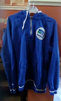 Mitchell & Ness Seattle Seahawks NFL Throwback Hoodie Size 2xl