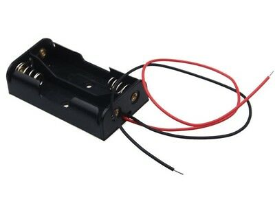 Battery Holder for 2 AA batteries with fly leads. 3V 3.0V 2AA FREE POSTAGE