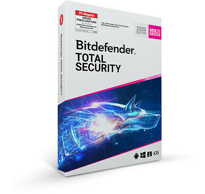 Code 5 PCs/ 3 Monate für Bitdefender Total Security 2020 mit VPN/ Multi-Device