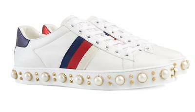 05afb7da6 NEW GUCCI LADIES Current Ace Leather Angry Cat Patch Sneakers Shoes ...