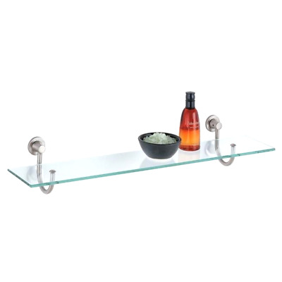 Signature Hardware Ceeley Tempered Glass Shelf with 2 Shelves