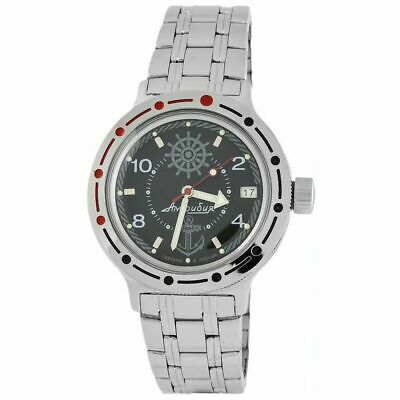 Vostok Amphibian 420526 Watch Russian Military Diver Black New