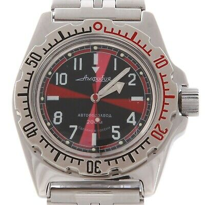 Vostok Amphibian Watch 110650 Russian Military Diver Mechanical New