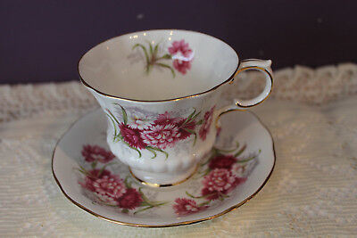 Paragon 'Flower Festival K' Tea Cup And Saucer - Made In England