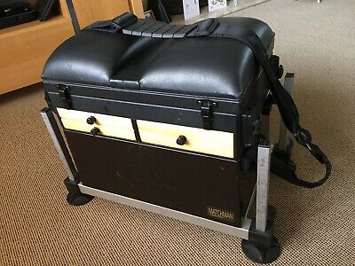 BOSS 6 DRAWER Fishing Tackle Seat Box with wheels and
