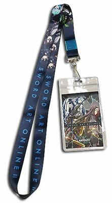 **Legit** Sword Art Online Sinon Charm Badge ID Holder Authentic Lanyard #37771