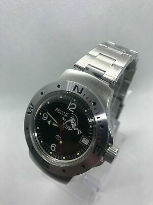 Vostok Amphibian 060634 Watch Military Automatic Russian Scuba Dude Diver New