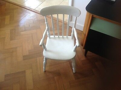 Antique Victorian child's chair Farrow and Ball,Bentwood  & Spindle White chair