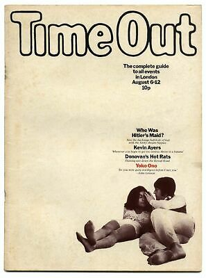 Time Out Magazine August 6-12, 1971 Kevin Ayers Yoko Ono John Holmes