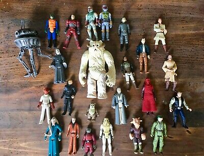 Star Wars Action Figure Lot with Rare Boba Fett, Wampa, Ewok And Others.