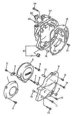 YAMAHA XJ 600 N S DIVERSION 1992-1995 Kit n°2 vis BTR inox moteur XJ600