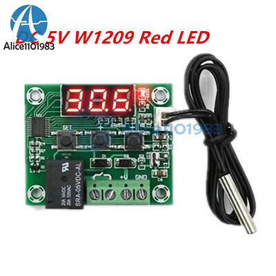 W1209 DC 5V Red LED Temperature Thermostat Switch Thermometer Controller Cable