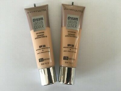 Maybelline Dream Urban Cover Full Coverage Foundation SPF 50 Various 30ml Sealed