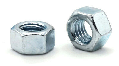Metric DIN 934 Class 8 Zinc Plated Steel Hex Finished Nuts - Sizes M3 - M42