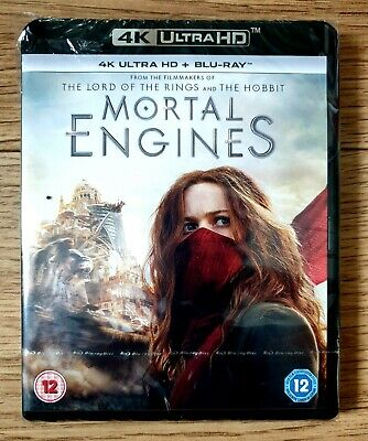 Mortal Engines 4k UHD HDR + Atmos Sound & HD Blurray.  Brand New & Sealed