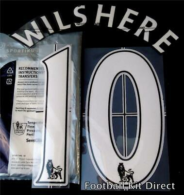 Arsenal Wilshere 10 Premier League Football Shirt Name Set Lextra 07-13 Player