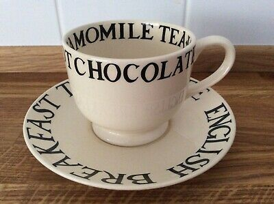 Emma Bridgewater Balck Toast Cup And Saucer Old Style