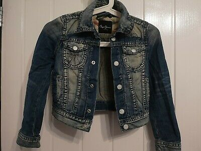 Pepe Jeans London Girls Denim  Jacket Size 8 years