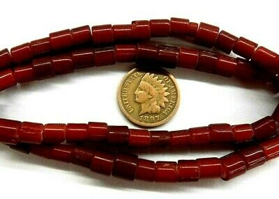 Whiteheart Blood Red Trade Beads  White Heart 677 6  Antique style Hudson Bay