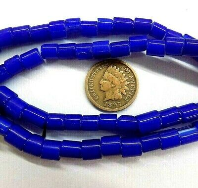 Cobalt Trade Beads White Heart Antique style Hudson Bay 1800's Draw Old Style 6