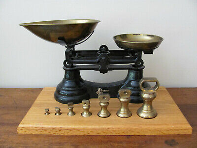 LIBRASCO SCALE Black made in England w/ US standard unit brass weights 1/4oz-1lb
