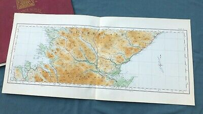 SCOTLAND, 1924 - Vintage Cloth OS Map of THE HIGHLANDS, SUTHERLAND & EASTER ROSS