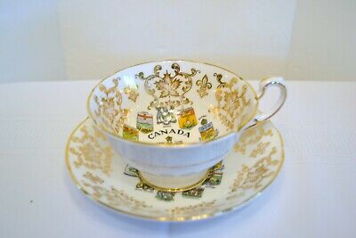 Paragon  Canada Coat of Arms  and Emblems Bone China Tea Cup and Saucer
