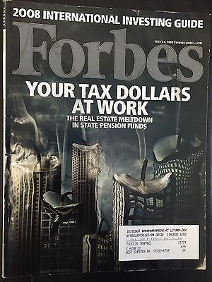 Forbes magazine July 21, 2008 issue Tax dollars at work