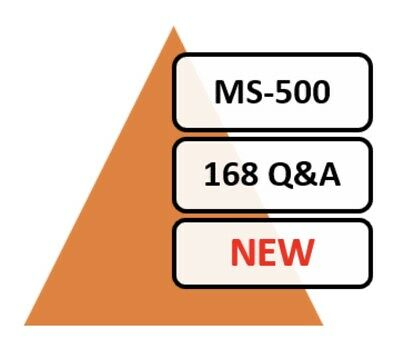 New MS-500 Exam 162 Q&A PDF ONLY!
