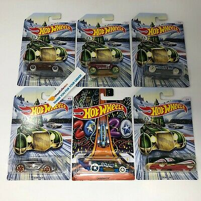 6 Car Set Holiday Hot Rods w/ New Years Carbonator * 2019 Hot Wheels